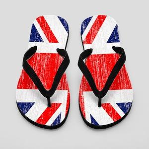 Distressed Union Jack 3 by 5 rug Flip Flops