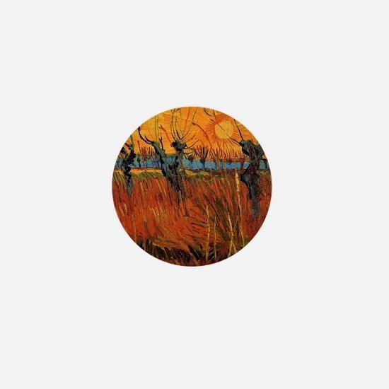 Van Gogh Willows at Sunset Mini Button