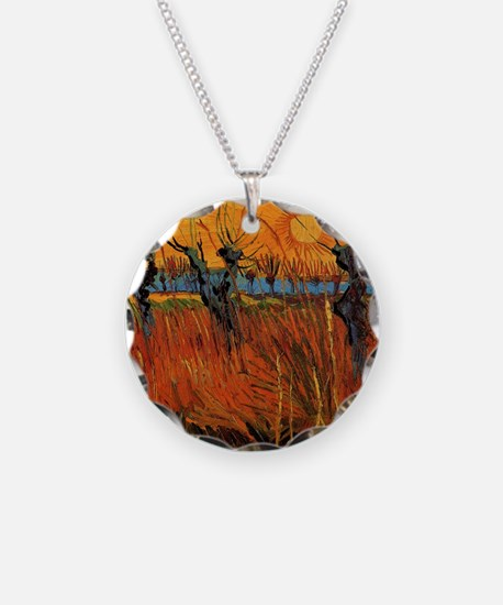 Van Gogh Willows at Sunset Necklace