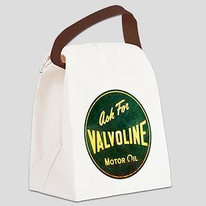 Valvoline Vintage dieselpunk sign Canvas Lunch Bag