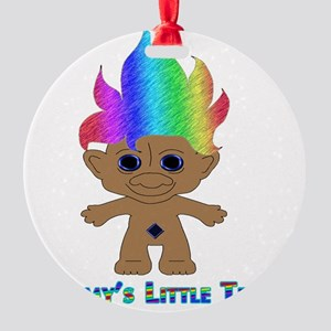 Mommys Little Troll Round Ornament