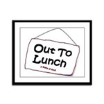 Out to Lunch Framed Panel Print