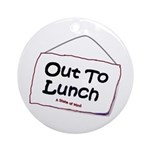 Out to Lunch Ornament (Round)