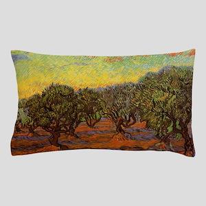 Van Gogh Olive Grove Orange Sky Pillow Case