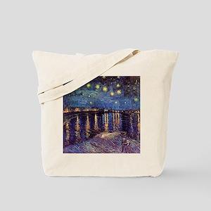 Van Gogh Starry Night Over The Rhone Tote Bag