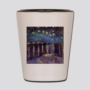 Van Gogh Starry Night Over The Rhone Shot Glass