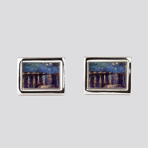 Van Gogh Starry Night Over The Rhone Cufflinks
