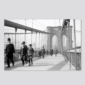 Brooklyn Bridge Pedestria Postcards (Package of 8)