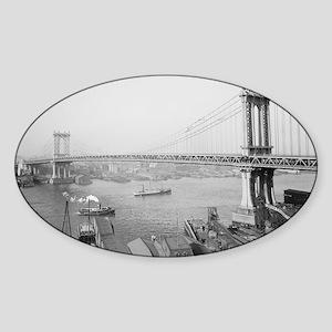 Manhattan Bridge Sticker (Oval)