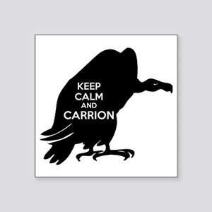 "Carrion Square Sticker 3"" x 3"""