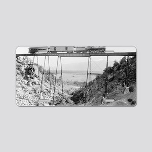 Train Crossing High Bridge Aluminum License Plate