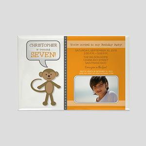 10-monkey_5x7_orange Rectangle Magnet