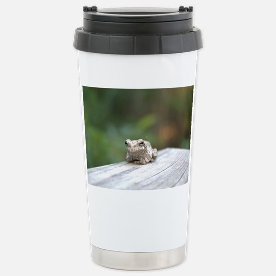 Resting Frog Stainless Steel Travel Mug