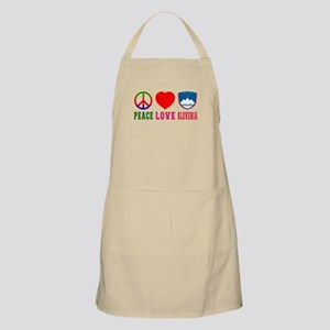 Peace Love Slovenia Apron