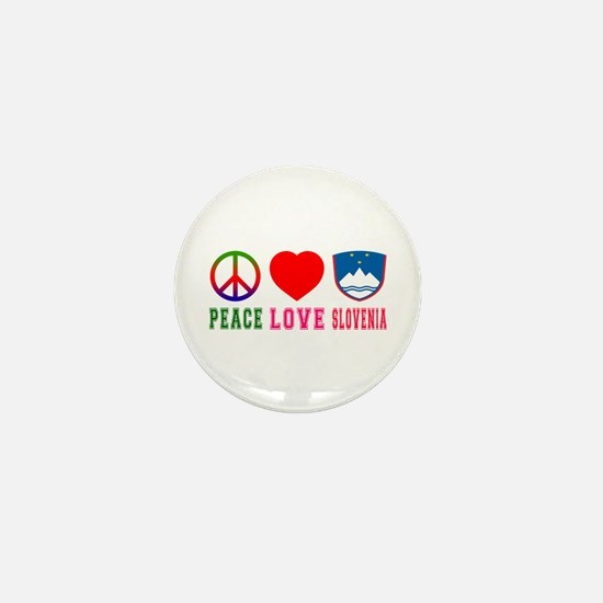 Peace Love Slovenia Mini Button