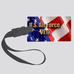 usa usaf vet Large Luggage Tag