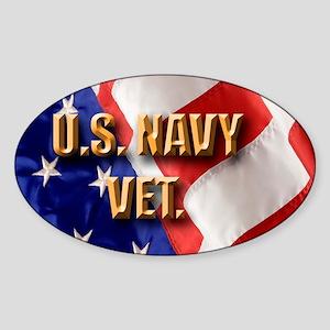 usa navy vet Sticker (Oval)