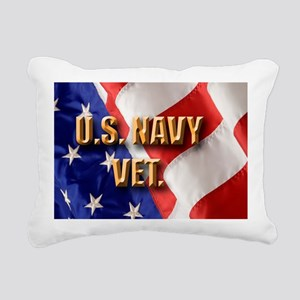 usa navy vet Rectangular Canvas Pillow