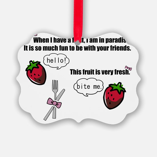 When I have a fruit w/bows dk (fu Ornament