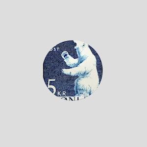 Vintage 1963 Greenland Polar Bear Post Mini Button