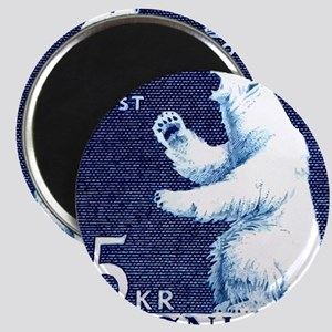 Vintage 1963 Greenland Polar Bear Postage S Magnet