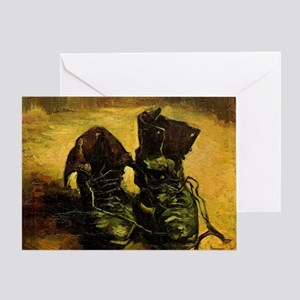 A Pair of Shoes by Vincent van Gogh Greeting Card