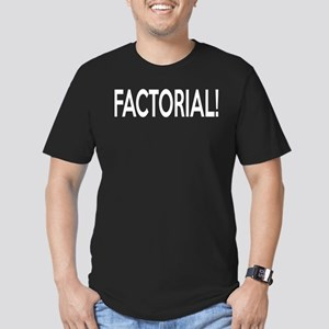 Factorial! Geeky Math Humor Men's Fitted T-Shirt (
