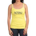 Factorial! Geeky Math Humor Jr. Spaghetti Tank
