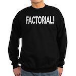 Factorial! Geeky Math Humor Sweatshirt (dark)