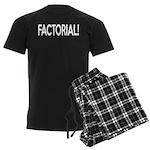 Factorial! Geeky Math Humor Men's Dark Pajamas