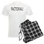 Factorial! Geeky Math Humor Men's Light Pajamas