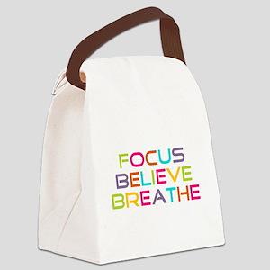 Multi Focus Believe Breathe Canvas Lunch Bag