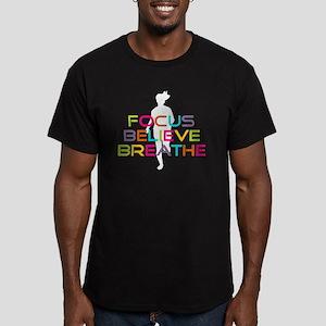 Multi Focus Believe Br Men's Fitted T-Shirt (dark)