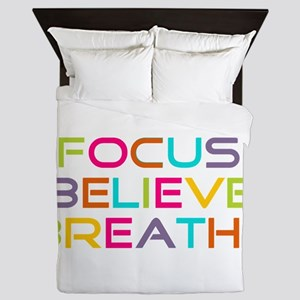 Multi Focus Believe Breathe Queen Duvet