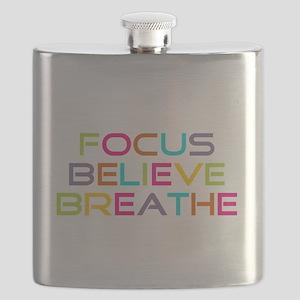 Multi Focus Believe Breathe Flask
