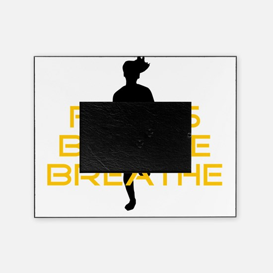 Yellow Focus Believe Breathe Picture Frame