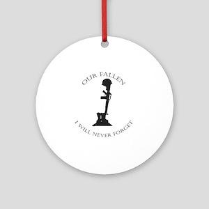 Our Fallen Round Ornament