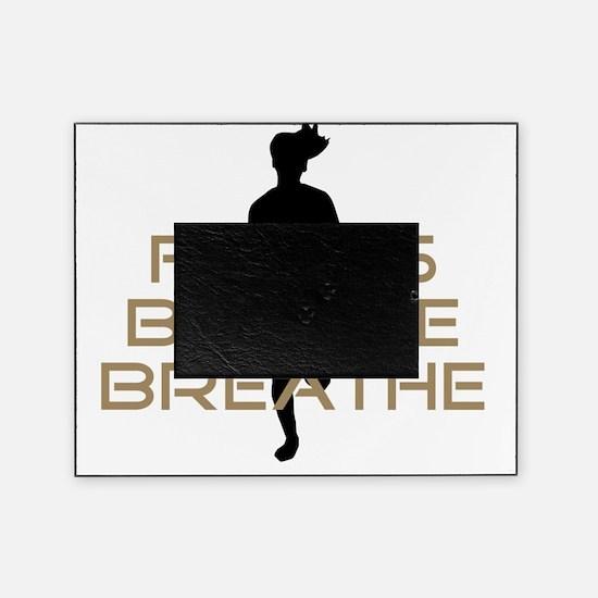 Tan Focus Believe Breathe Picture Frame