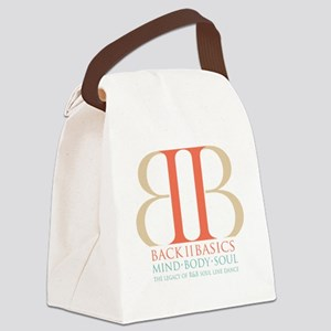 Back II Basics (tri-color) Canvas Lunch Bag