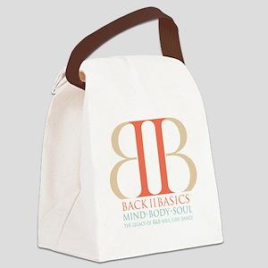 Back II Basics (tri-color dark) Canvas Lunch Bag