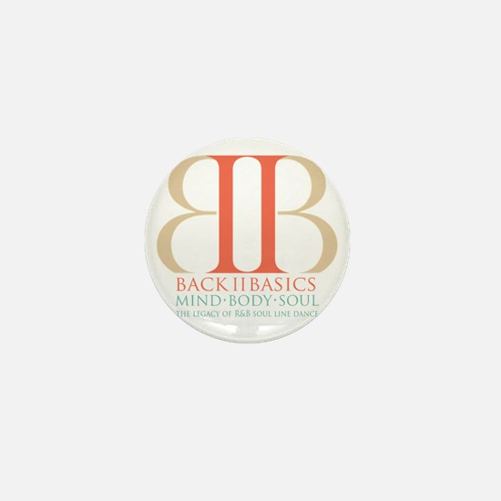 Back II Basics (tri-color dark) Mini Button