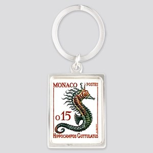 Vintage 1960 Monaco Spiny Seahor Portrait Keychain
