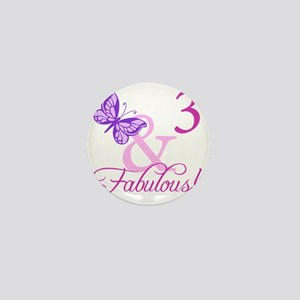 Fabulous 3rd Birthday For Girls Mini Button