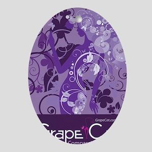 Grape Cat Ipad Switch Case Oval Ornament