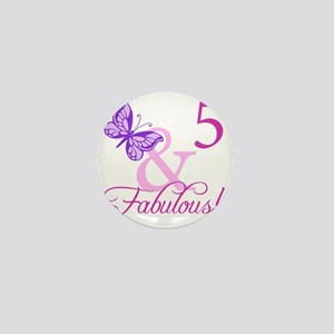 Fabulous 5th Birthday For Girls Mini Button