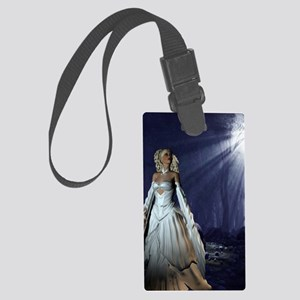 Lady in White Large Luggage Tag