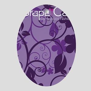 Grape Cat Kindle Kickstand Case Oval Ornament