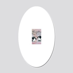 Please Dont Celebrate 20x12 Oval Wall Decal