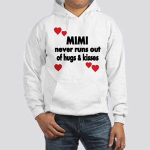 MIMI NEVER RUNS  OUT OF HUGS  KI Hooded Sweatshirt