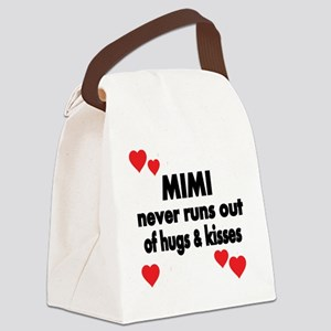 MIMI NEVER RUNS  OUT OF HUGS  KIS Canvas Lunch Bag